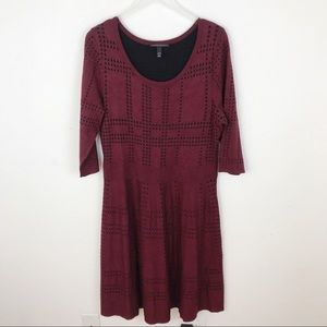 Lane Bryant Wine Maroon Burgundy Sweater Dress